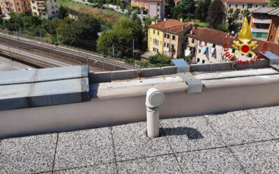 Il maltempo ha fatto danni sul tetto del tribunale di Vicenza
