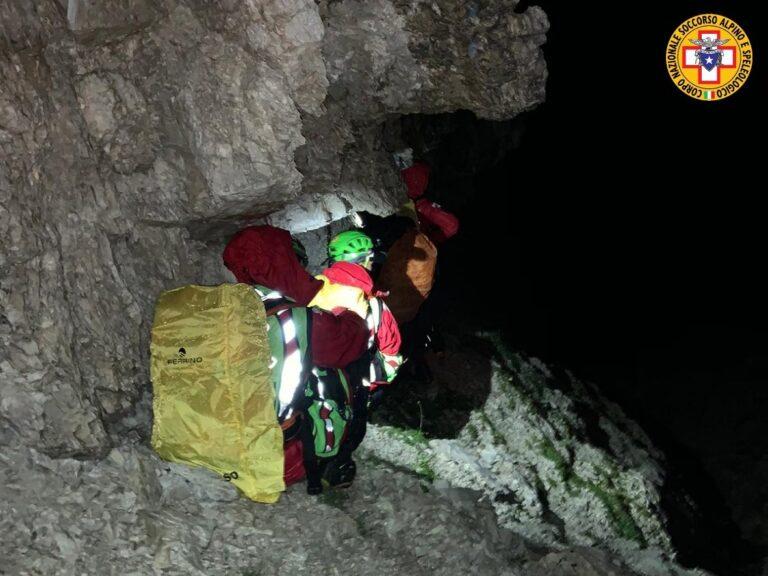 Intervento nella notte sulla Moiazza per recuperare due escursionisti inglesi sfiniti