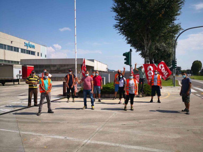 Sostituiti dagli interinali: sciopero alla logistica di Xylem di Montecchio Maggiore