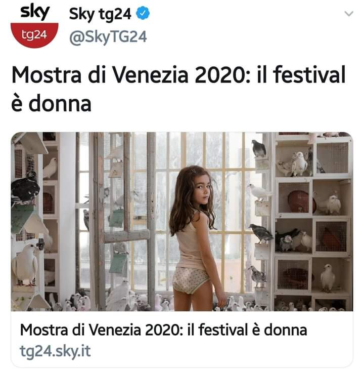 """Tweet scandalo di SkyTg24: bimba in mutande per il """"festival delle donne"""""""