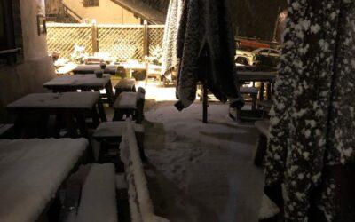 Maltempo – La prima neve a Cortina e grandine in Altopiano