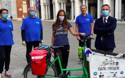 Passato per Vicenza Cycle 2 Recycle: Myra Stals contro l'inquinamento da plastica