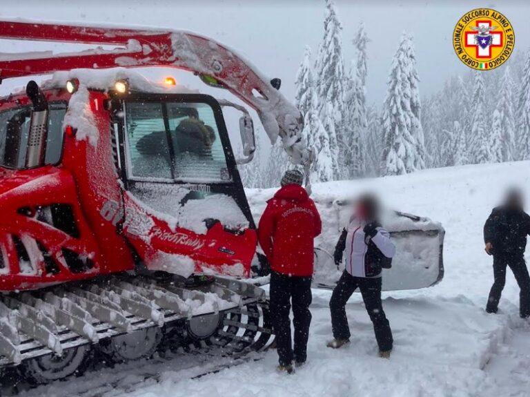 Soccorso Alpino Veneto – Recuperati 9 escursionisti isolati dalla neve