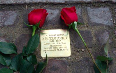 A Padova posata la pietra d'inciampo per ricordare padre Placido Cortese