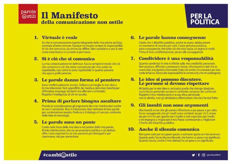 Marano Vicentino aderisce al Manifesto della comunicazione non ostile!