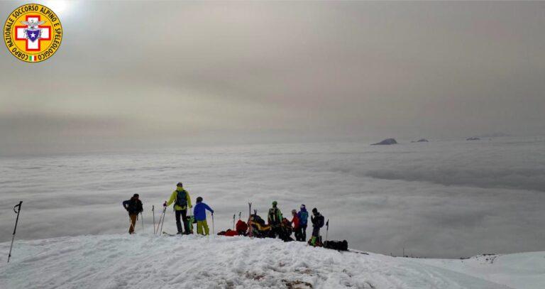 Recuperato sul Baldo un alpinista vicentino infortunato