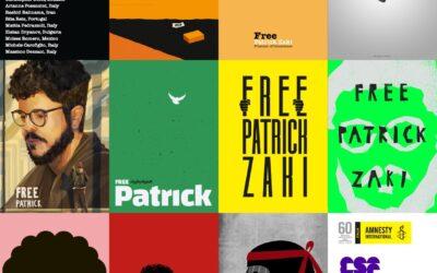 """Libertà per Zaki al Bo: i """"poster for tomorrow"""" in cortile antico"""