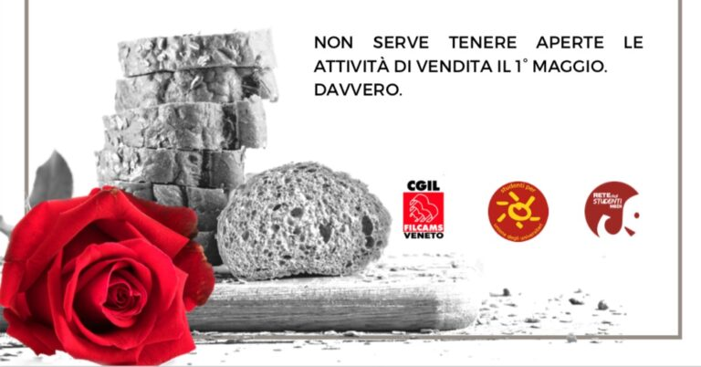 Una rosa per le lavoratrici e i lavoratori del Commercio il Primo Maggio