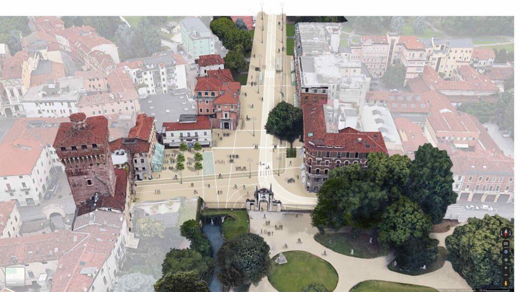 progetto su piazzale De Gasperi