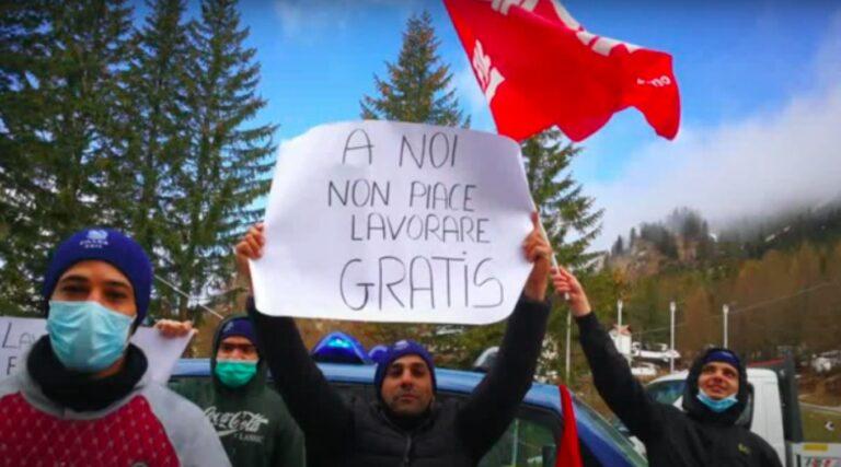 Appalti selvaggi per i Mondiali di Sci di Cortina: 50 lavoratori lasciati per mesi senza stipendio