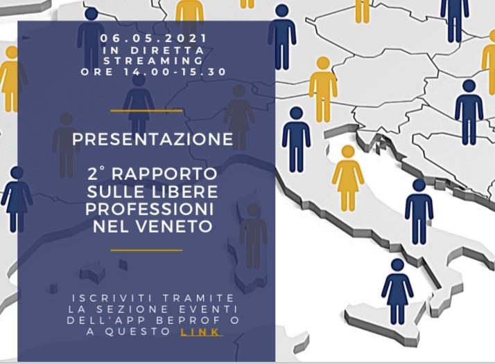 Giovedì 6 maggio 2021 la presentazione del Rapporto sulle libere professioni nel Veneto