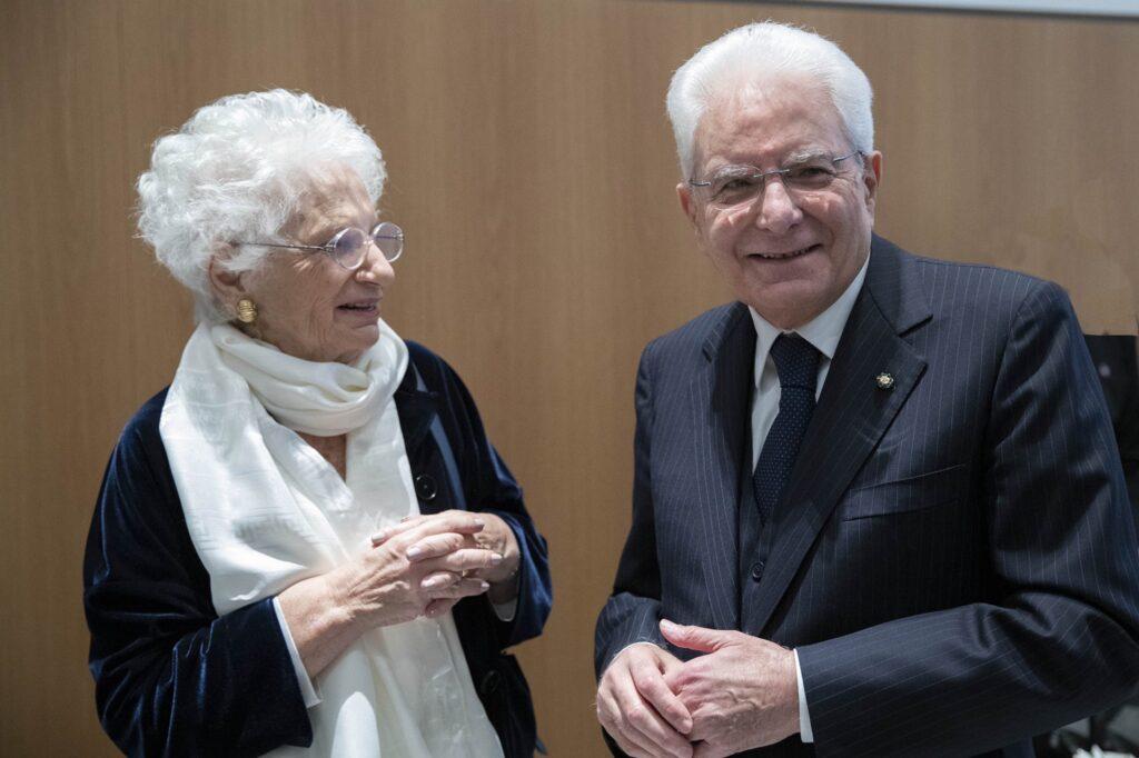 Liliana Segre e il presidente Sergio Mattarella