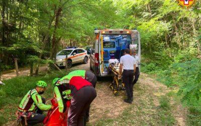 Cade nel percorso di downhill: per il soccorso oltre al SUEM anche in CNSAS