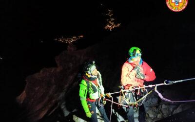 Soccorso Alpino, recuperi complessi in notturna in Val di Fassa